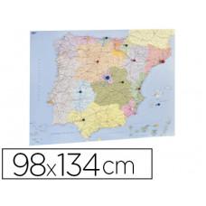 MAPA MURAL FAIBO ESPAÑA Y PORTUGAL AUTONOMICO PLASTIFICIADO ENROLLADO 98X134 CM