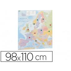 MAPA MURAL FAIBO EUROPA PLASTIFICADO ENROLLADO 110X98 CM