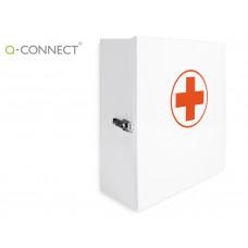 BOTIQUIN Q-CONNECT METALICO 4 COMPARTIMENTOS VACIO PRIMEROS AUXILIOS 330X360X120 MM