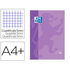 RECAMBIO COLOR 1 OXFORD DIN A4+ 80 HOJAS 90 GR CUADRO 5 MM 4 TALADROS COLOR MALVA