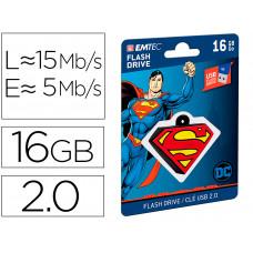 MEMORIA USB EMTEC FLASH 16 GB USB 2.0 COLLECTOR SUPERMAN