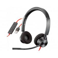 AURICULAR PLANTRONICS BLACKWIRE 3320 DIADEMA BIAURAL CABLE USB-A CON MICROFONO