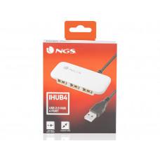 HUB USB 2.0 NGS IHUB CON 4 PUERTOS COLOR BLANCO