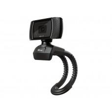 CAMARA WEBCAM TRUST TRINO CON MICROFONO Y BOTON CAPTURADOR DE IMAGEN 1280X720 HD 1440P USB 2.0 COLOR NEGRO