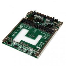 Adaptador Conversor de SSD mSATA Doble a SATA RAID de 2,5 Pulgadas - Convertidor