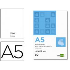 BLOC NOTAS LIDERPAPEL LISO A5 80 HOJAS 60G/M2 PERFORADO