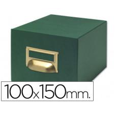 FICHERO FICHAS TELA VERDE 1000 FICHAS N.3 -TAMAÑO 100X150 MM