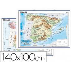 MAPA MURAL ESPAÑA FISICO/POLITICO -140 X 100 CM