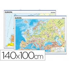 MAPA MURAL EUROPA FISICO/POLITICO -140 X 100 CM