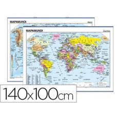 MAPA MURAL MUNDI PLANISFERIO -140 X 100 CM