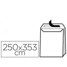 SOBRE LIDERPAPEL BOLSA FUELLE KRAFT 250X353X30 MM SOLAPA TIRA DE SILICONA PAPEL 120GR CAJADE 50 UNIDADES