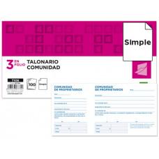 TALONARIO LIDERPAPEL COMUNIDAD TRES DEL FOLIO 106 -CON IVA