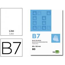 BLOC NOTAS LIDERPAPEL LISO B7 80 HOJAS 60G/M2 PERFORADO
