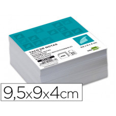 TACO LIDERPAPEL SIN ENCOLAR 95X90 X 40MM BLANCO 80GR