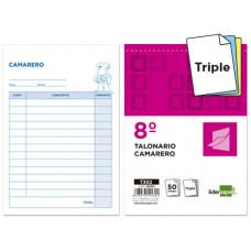 TALONARIO LIDERPAPEL CAMARERO 8º ORIGINAL Y 2 COPIAS T302