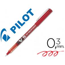 BOLIGRAFO PILOT PUNTA AGUJA V-5 ROJO 0.5 MM