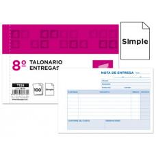 TALONARIO LIDERPAPEL ENTREGAS 8º ORIGINAL T128 APAISADO