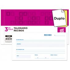 TALONARIO LIDERPAPEL RECIBOS 3/Fº ORIGINAL Y COPIA T236 SIN MATRIZ
