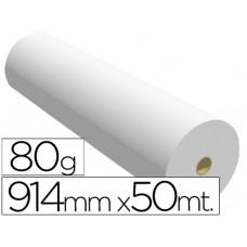 PAPEL REPROGRAFIA PARA PLOTTER 914MMX50MT 80GR IMPRESION INK-JET
