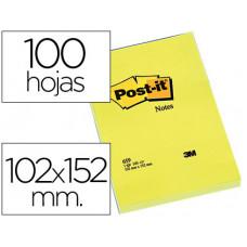BLOC DE NOTAS ADHESIVAS QUITA Y PON POST-IT 102X152 MM CON 100 HOJAS 659