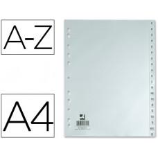SEPARADOR ALFABETICO Q-CONNECT PLASTICO A-Z DIN A4 -MULTITALADRO