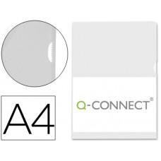 CARPETA DOSSIER UÑERO PLASTICO Q-CONNECT DIN A4 120 MICRAS TRANSPARENTE -BOLSA DE 10 UNIDADES