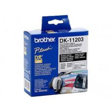 ETIQUETA ADHESIVA BROTHER DK11203 -TAMAÑO 17X87 MM PARA IMPRESORAS DE ETIQUETAS QL -300 ETIQUETAS-