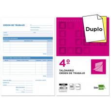 TALONARIO LIDERPAPEL ORDEN DE TRABAJO CUARTO ORIGINAL Y COPIA T255