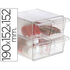 ARCHICUBO ARCHIVO 2000 4 CAJONES ORGANIZADOR MODULAR PLASTICO 190X152X152 MM INCLUYE 2 CLIPS DE SUJECION