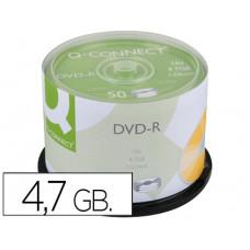 DVD-R Q-CONNECT CAPACIDAD 4,7GB DURACION 120MIN VELOCIDAD 16X BOTE DE 50 UNIDADES