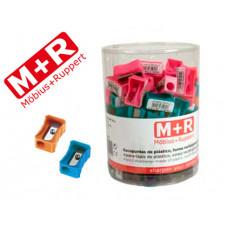 SACAPUNTAS M+R 304 PLASTICO RECTANGULAR 1 USO COLORES SURTIDOS