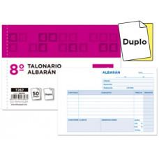 TALONARIO LIDERPAPEL ALBARAN OCTAVO DUPLICADO APAISADO