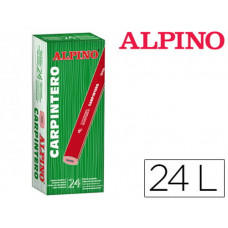 LAPICES ALPINO CARPINTERO CAJA DE 24 UNIDADES