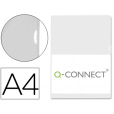 CARPETA DOSSIER UÑERO PLASTICO Q-CONNECT DIN A4 120 MICRAS TRANSPARENTE CAJA DE 100 UNIDADES