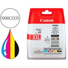 INK JET CANON PGI-580/CLI-581 XXL PIXMA PARA TS6150 / TS8150 /TR7550 / TR8550 MULTIPACK NEGRO AMARILLO CIAN