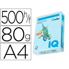PAPEL COLOR IQ MULTIFUNCION AZUL PASTEL 80G/M2 PAQUETE DE 500 HOJAS