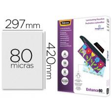 BOLSA DE PLASTIFICAR FELLOWES BRILLO DIN A3 80 MICRAS PACK 100 UNIDADES