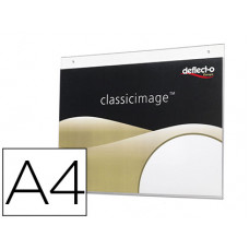 EXPOSITOR MURAL DEFLECTO CLASSIC IMAGE DIN A4 HORIZONTAL TRANSPARENTE 300X235X7 MM