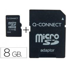MEMORIA SD MICRO Q-CONNECT FLASH 8 GB CLASE 4 CON ADAPTADOR