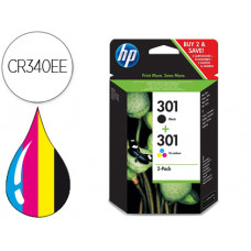 INK JET HP 301 PACK CON TINTA NEGRA Y TINTA TRICOLOR 1000/1001 3000/ 3050/3050SE/3050VE 1050A/2050A/2054A/3050A