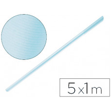 PAPEL KRAFT LIDERPAPEL AZUL CIELO ROLLO 5X1 MT