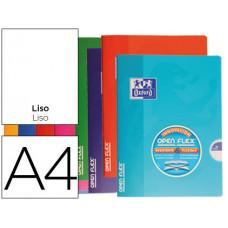 LIBRETA ESCOLAR OXFORD TAPA FLEXIBLE OPTIK PAPER OPENFLEX 48 HOJAS 90 GR DIN A4 LISO COLORES SURTIDOS