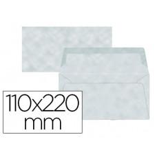 SOBRE LIDERPAPEL AMERICANO AZUL PERGAMINO 110X220 MM 80 G/M PACK DE 9 UNIDADES