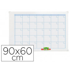 PLANNING MAGNETIC.NOBO MENSUAL ROTULABLE MARCO METALICO 90X60 CM