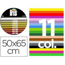 "CARTULINA GUARRO 50X65 CM CONTENIDO ""D"" 25 HOJAS X 11 COLORES 185 GR"