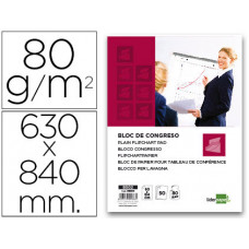 BLOC CONGRESO LIDERPAPEL LISO 63X84CM 50 HOJAS 80G/M2